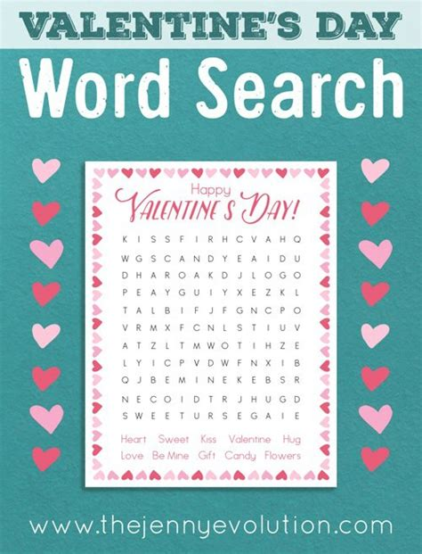 printable word search evolution no prep valentine worksheets and activities mommy evolution