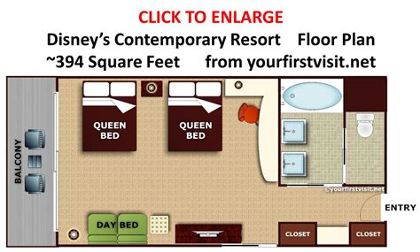Disney Contemporary Resort Hospitality Suite Floor Plan - review disney s contemporary resort continued