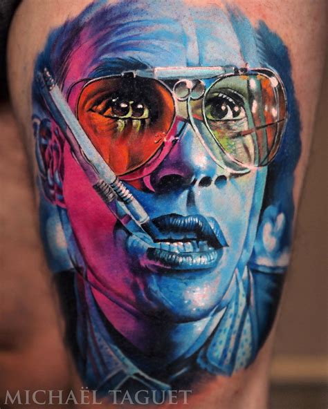 3d johnny tattoo fear and loathing portrait best tattoo design ideas