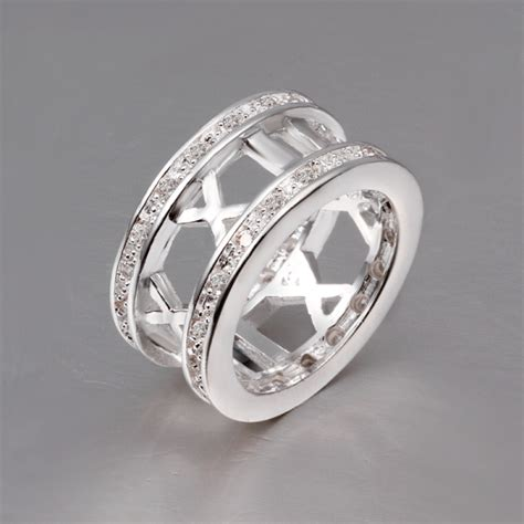 new 925 sterling silver number finger ring