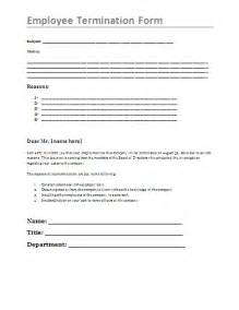 Termination Paperwork Template by Employee Termination Form Free Printable Documents