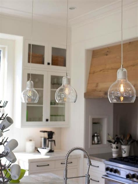 Clear Glass Pendant Lights For Kitchen Island The Pendents Kitchens Pinterest