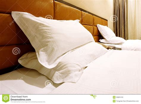 comfortable bed pillows hotel rooms royalty free stock image image 35891416
