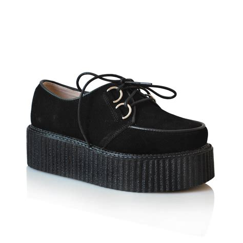 leather platform creepers black from sheinside shoes