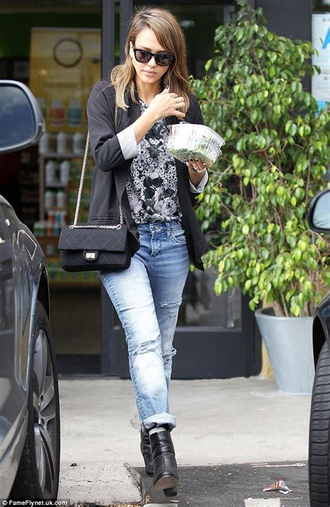 Alba Goes Chanel by Diet Conscious Alba Looks Glum As She Stocks Up On