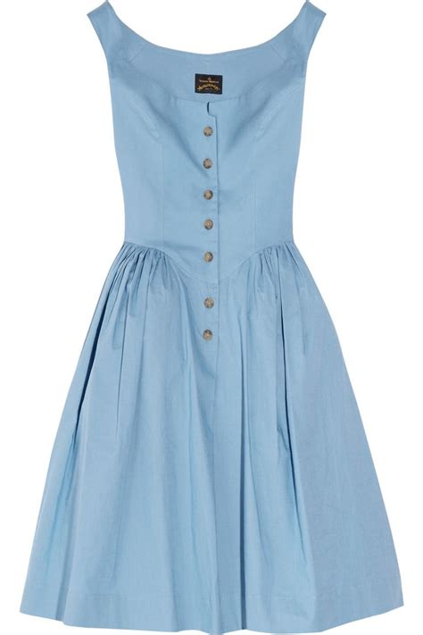 Cotton Dress low shoulders vivienne westwood panniers and cotton dresses