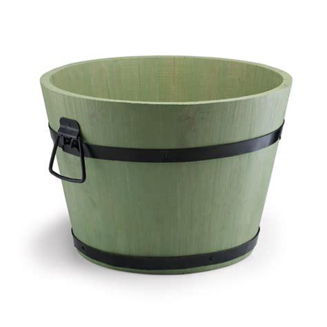 acacia wooden tub planter h24cm x d34cm 163 13 45