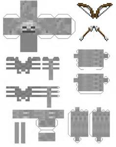 Minecraft Papercraft Skeleton - mob minepapercraft