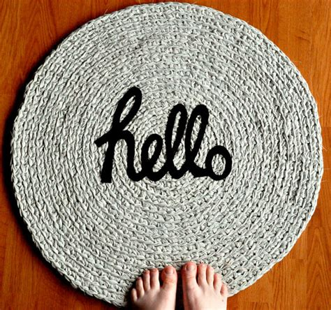 Hello Rugs by Items Similar To Hello Rag Rug On Etsy