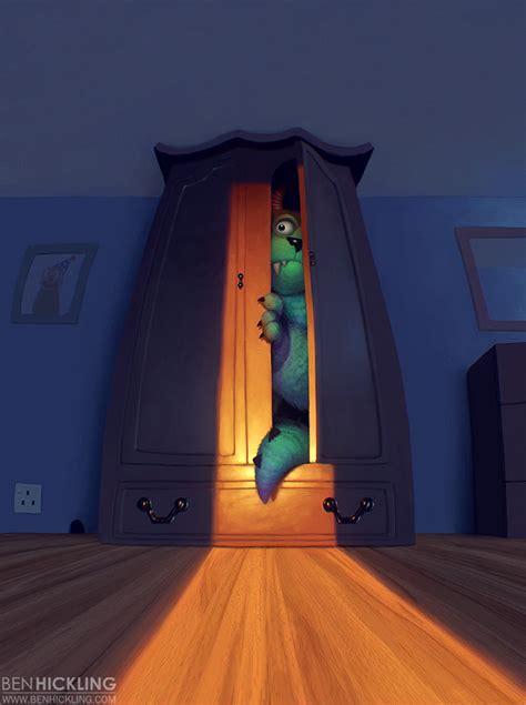 Monsters Inc Closet sketchyfun february already