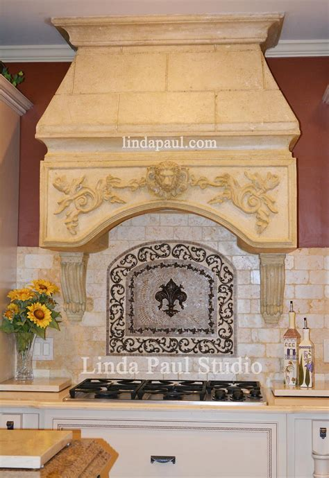 kitchen backsplash medallions how to install metal tile accents and stone mosaic medallions