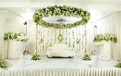 Christian Wedding Reception Decorations by Venu S Wedding Planners Stage Decorations Kerala India