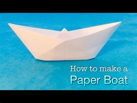 How Do I Make A Paper Boat - how to make a paper boat easy origami boat tutorial