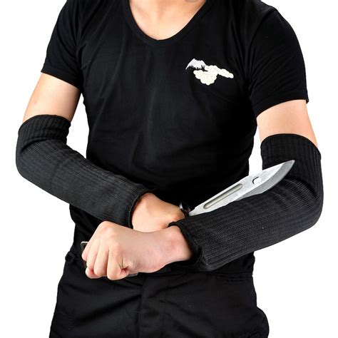 Sarung Tangan Elastis sarung lengan anti sobek begal maling black