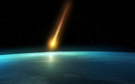 earth atmosphere wallpaper falling comet in the earth s atmosphere background hd