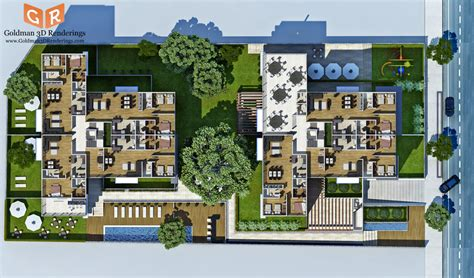 Real Estate Floor Plans Software 5 photorealistic colored floor plans for construction
