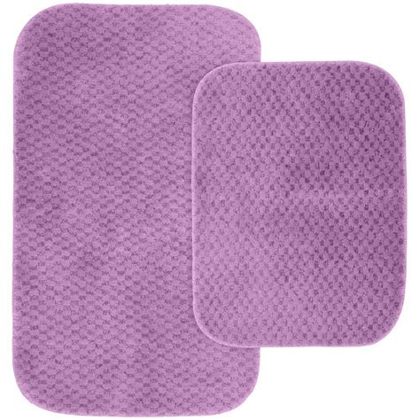 Purple Bath Rugs Garland Rug Cabernet Purple 21 In X 34 In Washable Bathroom 2 Rug Set Sig 2pc 09 The