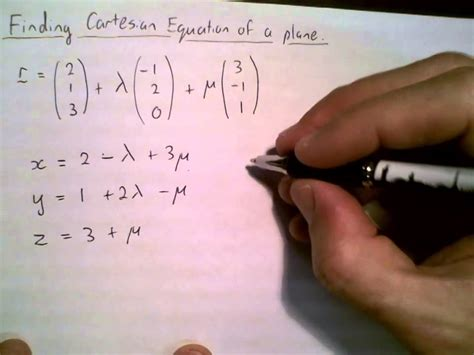 vector eqn  plane convert  cartesian youtube