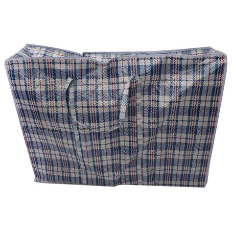 Laundry Bag Uk 30x40cm Zipper large woven plastic laundry bag zipper closing groceries shopping tote storage ebay