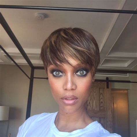 new short hair model 2015 tyra banks nouvelle adepte de la coupe courte les
