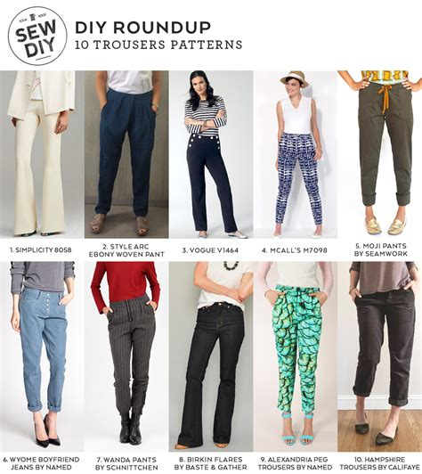 sewing pattern trousers diy roundup 10 trousers sewing patterns for spring sew diy