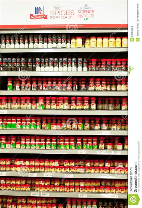 Clubhouse Spice Rack by Mccormick Spices Editorial Stock Image Image Of Dried