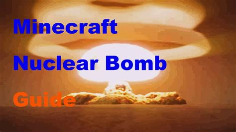 how to build a nuclear bomb weve demonized books but minecraft how to make a nuclear bomb guide youtube