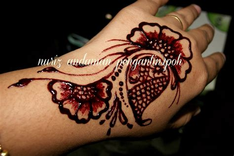 tato henna tangan pengantin ukiran inai simple studio design gallery best design