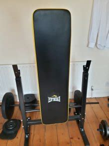 everlast bench press everlast folding workout bench with 50kg weights for sale
