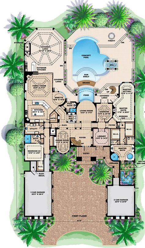 florida house plans florida mediterranean house plan 60479 florida houses