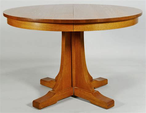Oak Pedestal Dining Table Lot 433 Contemporary Stickley Oak Pedestal Dining Table