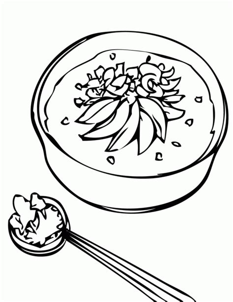 soup coloring pages coloring home