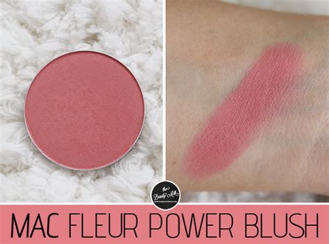Mac Fleur Power Blush 290rb review mac fleur power blush the milk