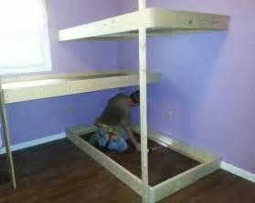 Easy To Make Bunk Beds Diy Bunk Bed