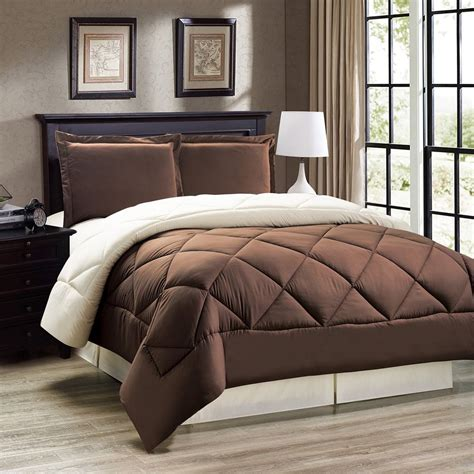 cream comforter set king down alternative brown and cream reversible comforter set