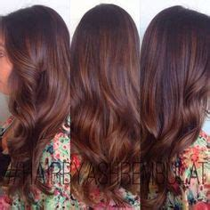red balayage  dark brown lowlights hair pinterest