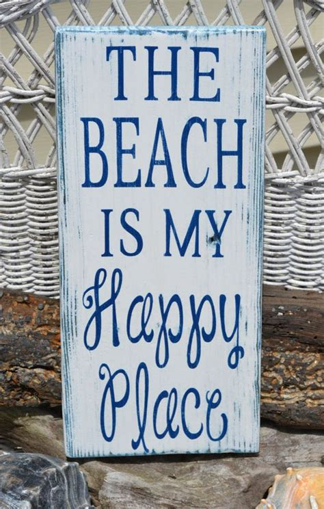 beach signs home decor beach decor the beach is my happy place beach sign
