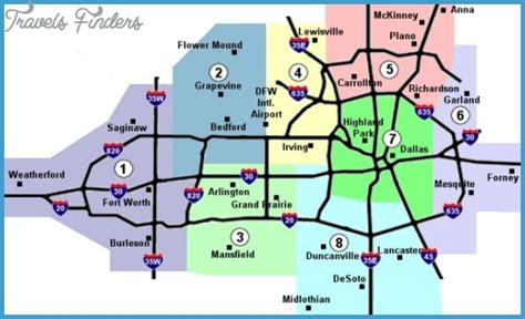 ft worth map dallas fort worth metro map travelsfinders