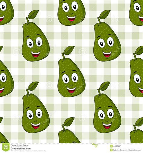 cute avocado pattern cartoon cute avocado seamless pattern stock vector image