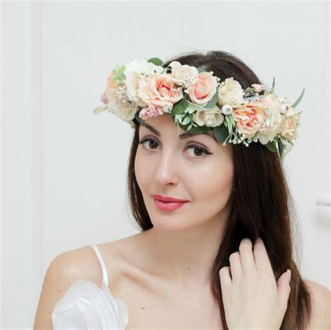Hiasan Rambut Headpiece 4 bridal floral crown flower headband bridal headband flower crown flower wreath