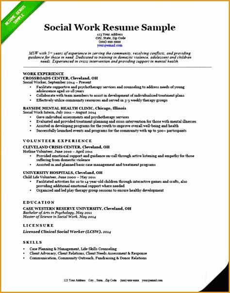 4 social worker resume exles free sles exles