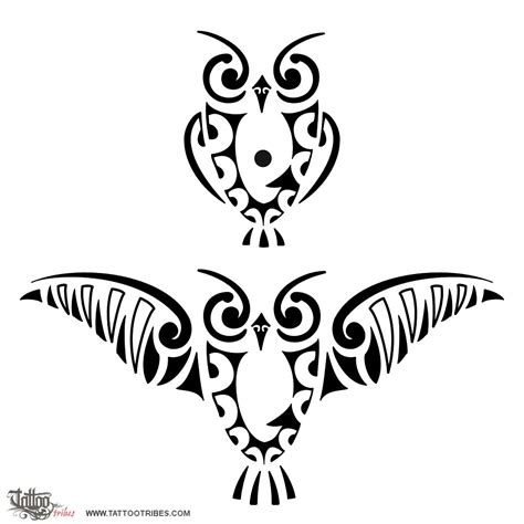 owl tribal tattoo designs of ruru owl custom designs on