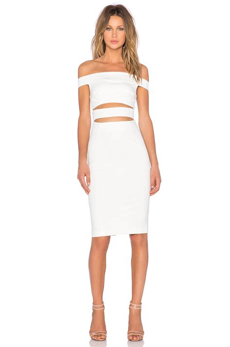 White Dress Pantai S lyst nicholas ponti shoulder dress in white