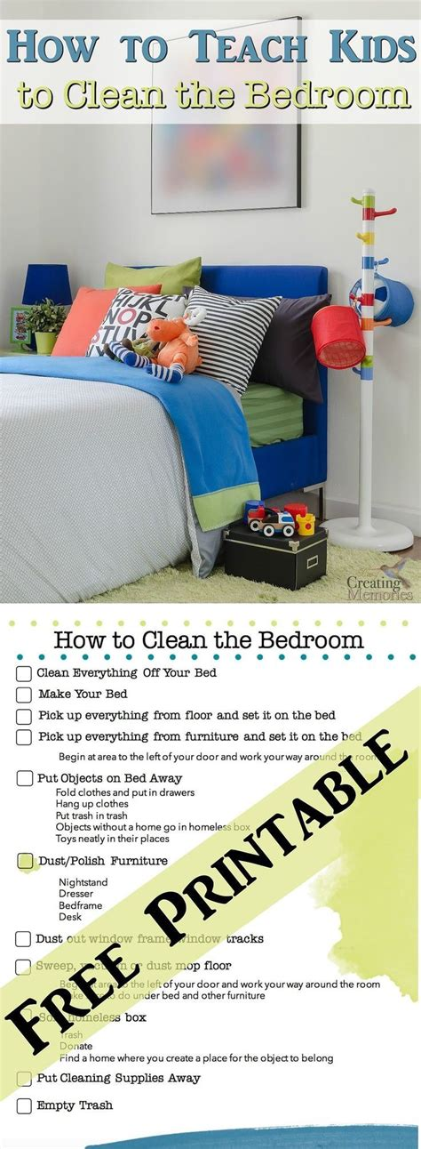 how do you clean your bedroom best 25 cleaning chart printable ideas on pinterest chore chart for kids children