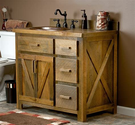 barn wood bathroom this would be neat for the master bathroom remodel reclaimed barn wood vanity made