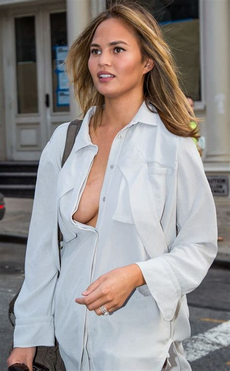 Blouse Big Jojo Shirt Braless In The City From Chrissy Teigen S Sexiest Pics