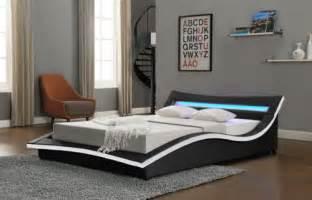 details   modern designer bed led light headboard