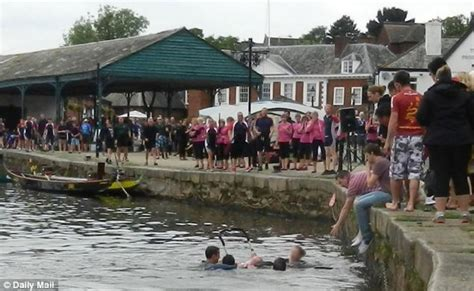 dragon boat racing exeter hero who dived into devon river to help mother rescue her