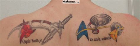 star trek tattoo trek shoulder blades geeky tattoos