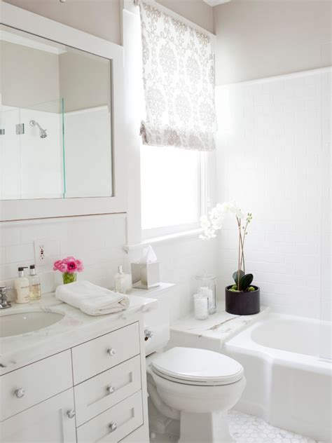 White Bathroom by White And Grey Bathroom Transitional Bathroom